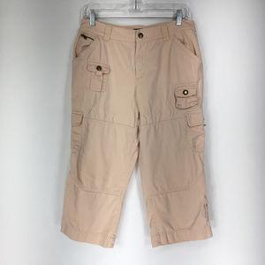 Lauren Ralph Lauren 10 Pink Cargo Capri Pants